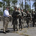 Army Ranger trainees with Defense Secretary Robert M. Gates