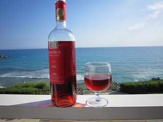 Rose wine and blue sea | by Signe Karin
