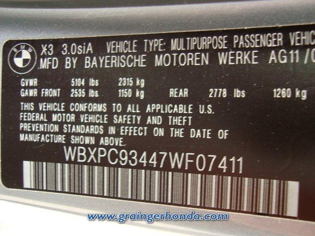 ... 2007 BMW X3 3.0si Savannah, GA Grainger Honda VIN | By Grainger Honda