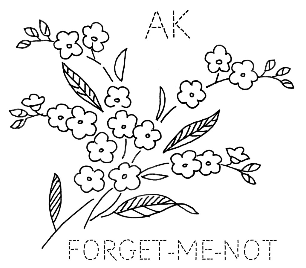 Flower art coloring pages - Alaska State Flower Coloring Page Atkinson Flowers