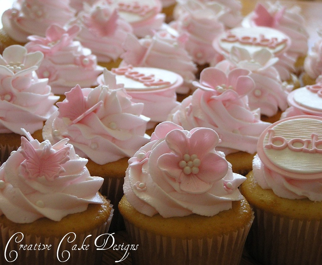 baby shower cupcakes just finished these lovely cupcakes