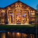 Handcrafted Log Home Exterior