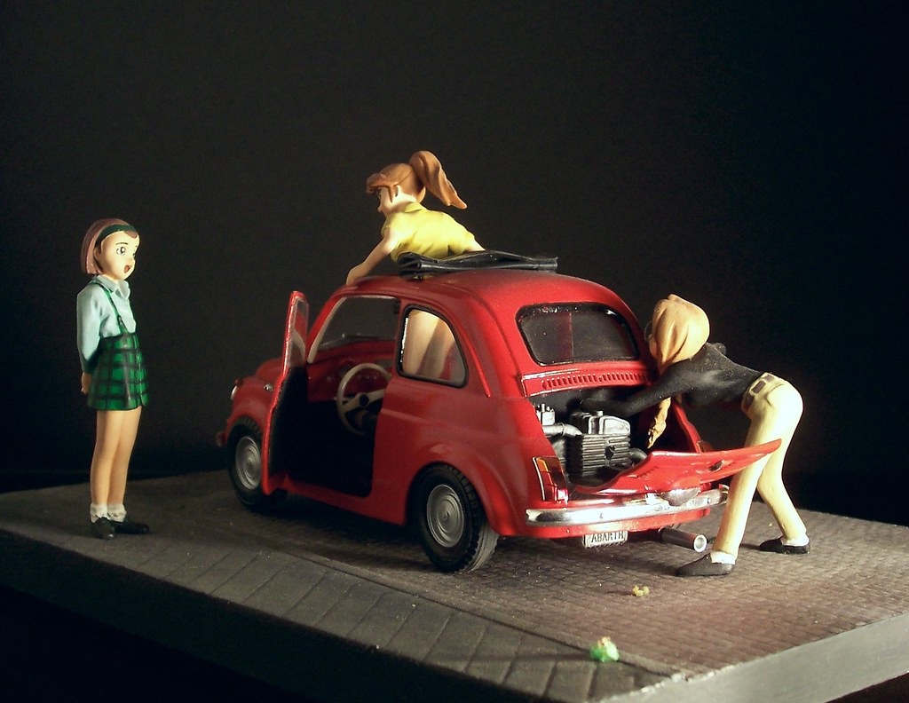 Euro Car Lovers 1 24 Fiat 500 And 3 Anime Characters Gu Flickr