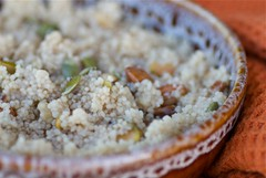 warm and nutty breakfast couscous | by Food Blogga
