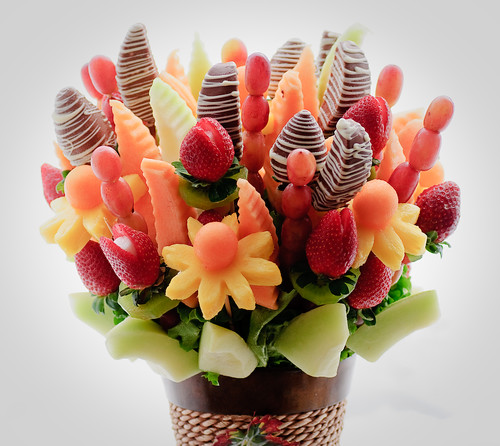 fruit flower basket isnt this clever its a fruit