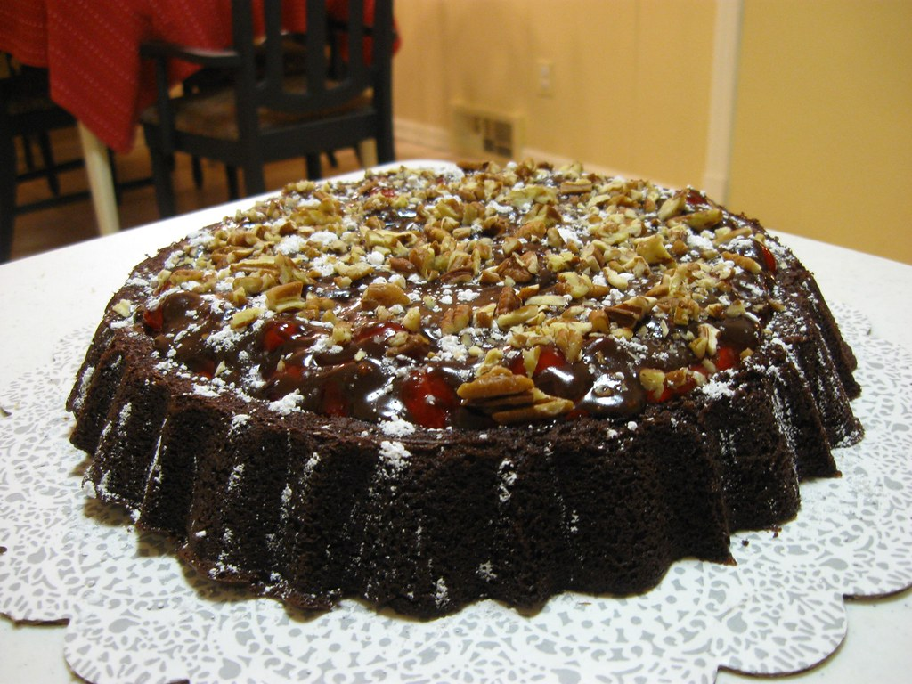 Devil S Food Cake With Cherry Pie Filling
