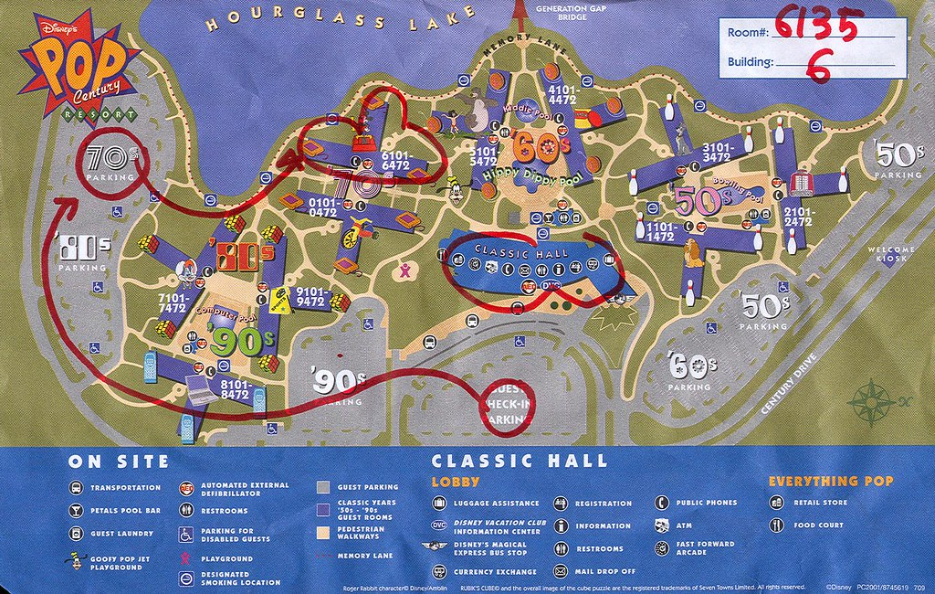 Pop Century Resort Map Disney's Pop Century Resort Map OR Do you know the way to … | Flickr Pop Century Resort Map