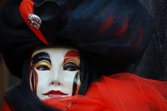 red, black & white | Carnevale | by arnabchat
