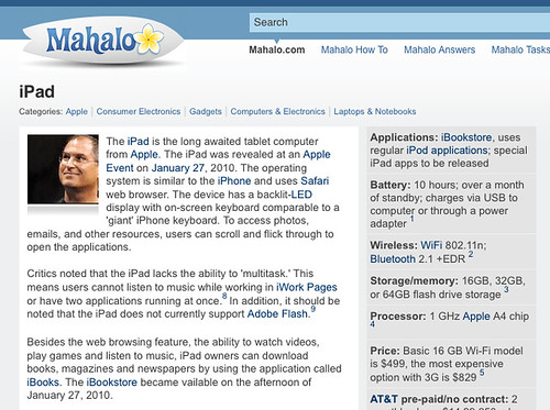 iPad On Mahalo | by search-engine-land