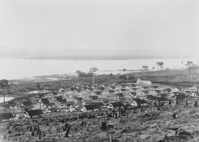 View of employee housing, Fordlandia, ca. 1933.
