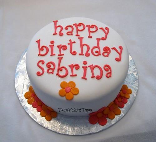 Fondant Letters On Cake