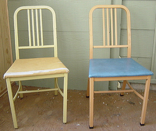 Pair of Metal Emeco Navy style chairs Canadian made by S
