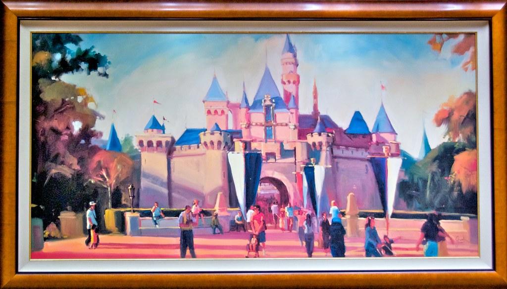 Sleeping Beauty Castle Painting at DIsneyland Hotel | Flickr