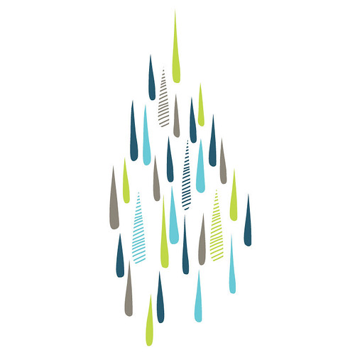 rainy day wall sticker/decal | by birds & trees