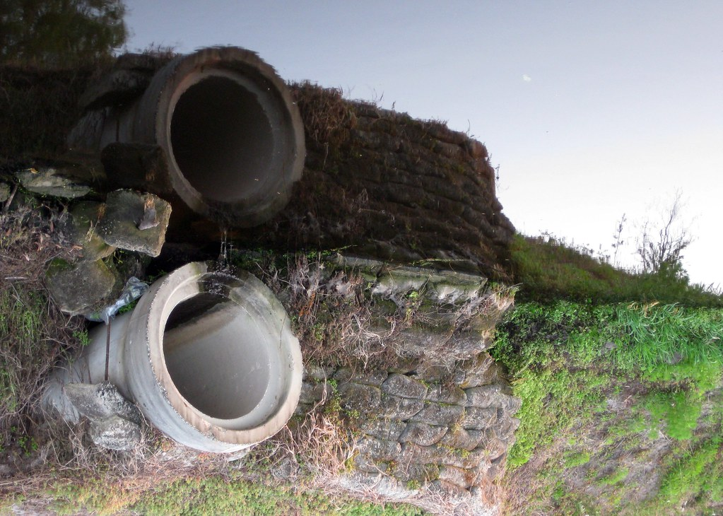 ... Storm drain pipe over a ditch | by FormerWMDriver & Storm drain pipe over a ditch | This is an edited version ofu2026 | Flickr