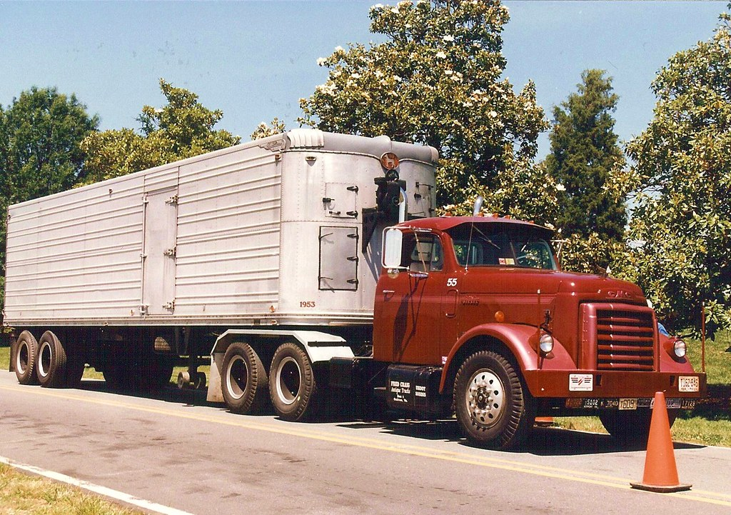 Gmc Diesel 1950 S Long Nose Gmc With Great Dane Trailer