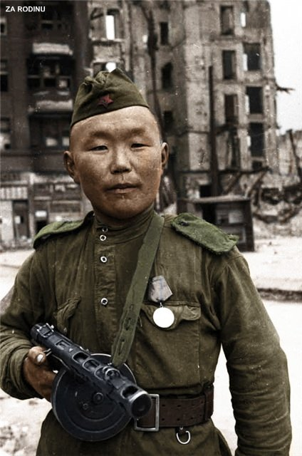 Mongolian Army Parade Soviet soldier in Germ...