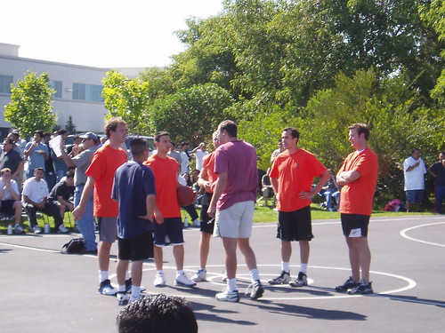 Old Photos: Work basketball game
