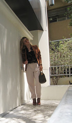 70's+Rust Blazer+Louis Vuitton Bag+Blond waves+khakis -dark | by ...love Maegan