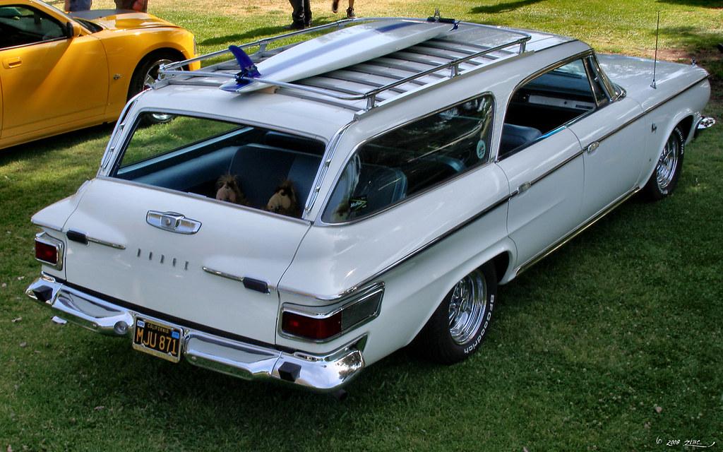 1964 Dodge Custom 880 wagon - white - rvr   Rex Gray   Flickr