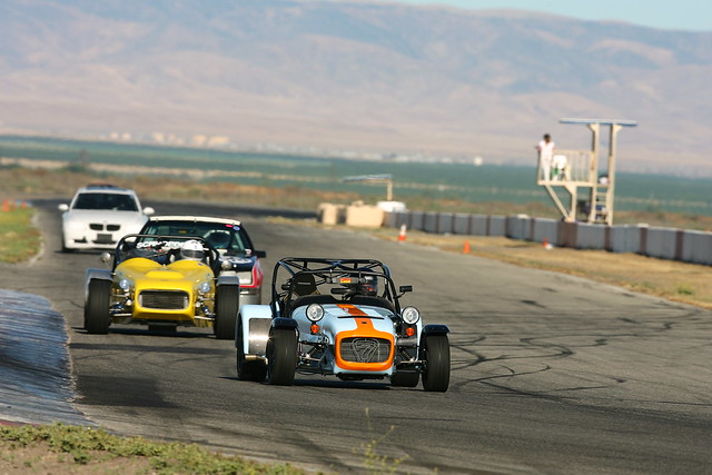 Caterham R500 and WCM Ultralite at Buttonwillow Raceway