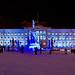 The light installation Heijastuksia - Reflections by Mikki Kunttu illuminates Senaatintori square