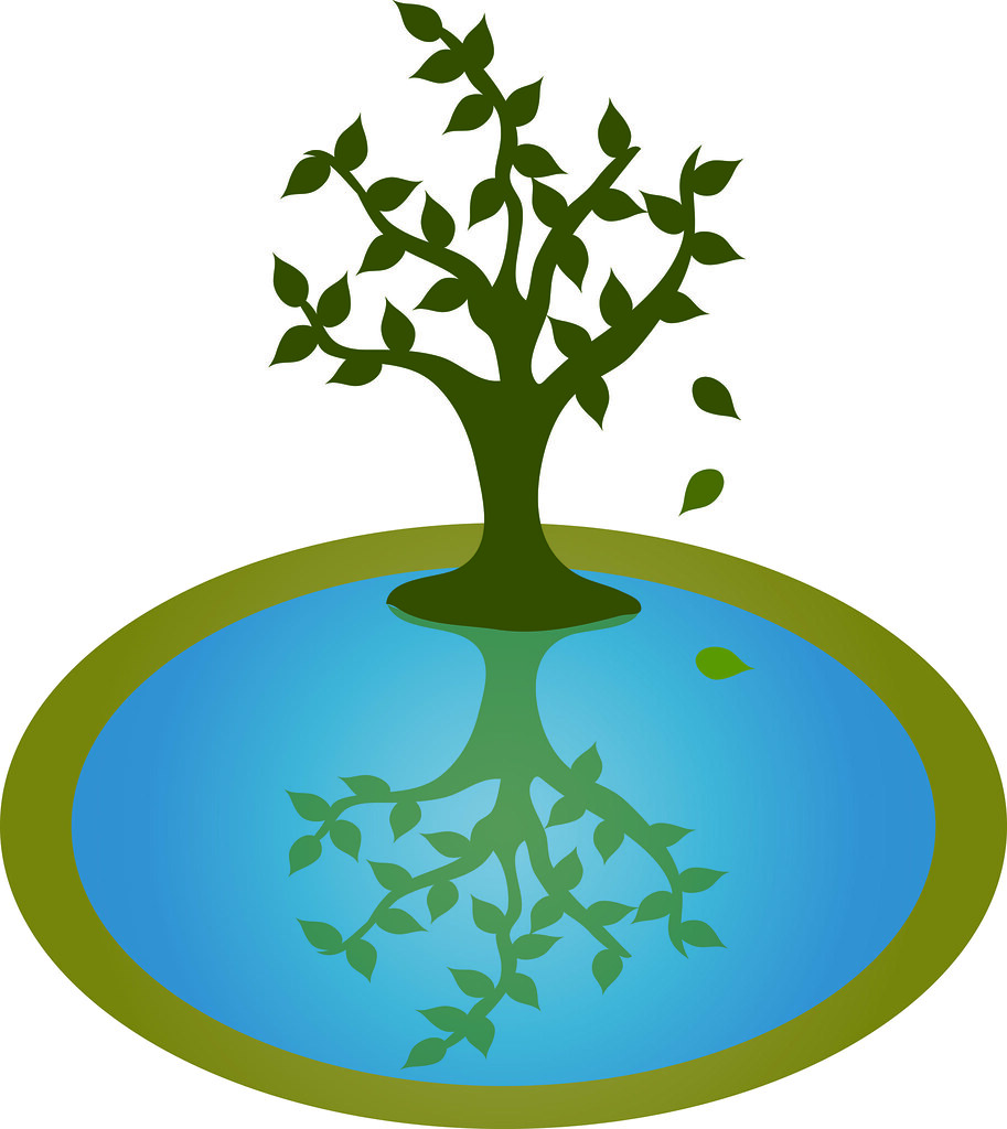 clip art illustration of a leafy tree by a pond clip art i flickr rh flickr com clipart pond animals clip art pontoon boat