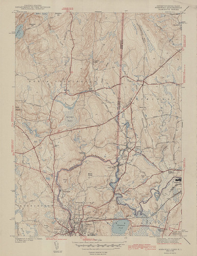 Ashaway Quadrangle 1943 - USGS Topographic Map 1:31,680 | by uconnlibrariesmagic