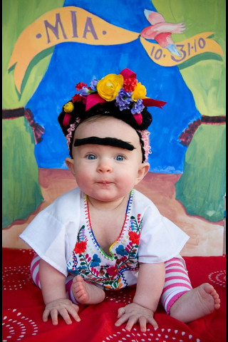 Beautiful Frida Kahlo Baby Portrait by Rachel Starmer | by jayne the pain
