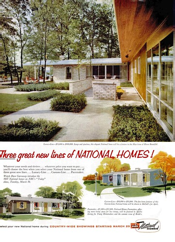 National Homes Ad Life 1957 Architect Charles Goodman