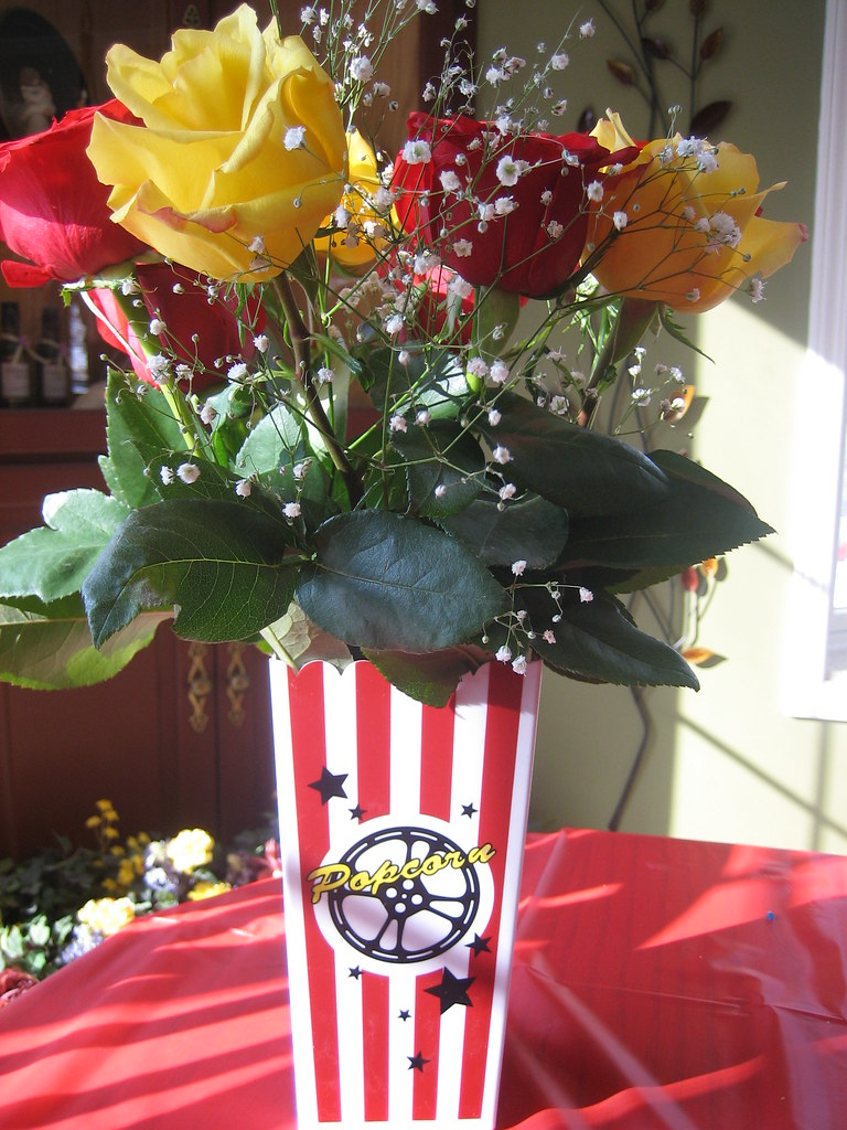 Movie night party centerpiece ideas