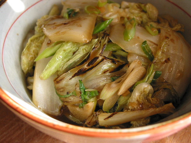 braised napa cabbage | braised in wine white with ginger ...