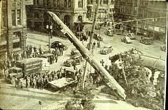 Reinstallation of Pioneer Square totem pole, 1940 | by Seattle Municipal Archives