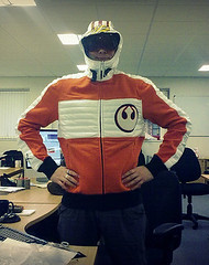 STAR WARS Marc Ekco X-Wing Orange Skywalker Pilot Fleece Thanks @robin_parker | by s10wen