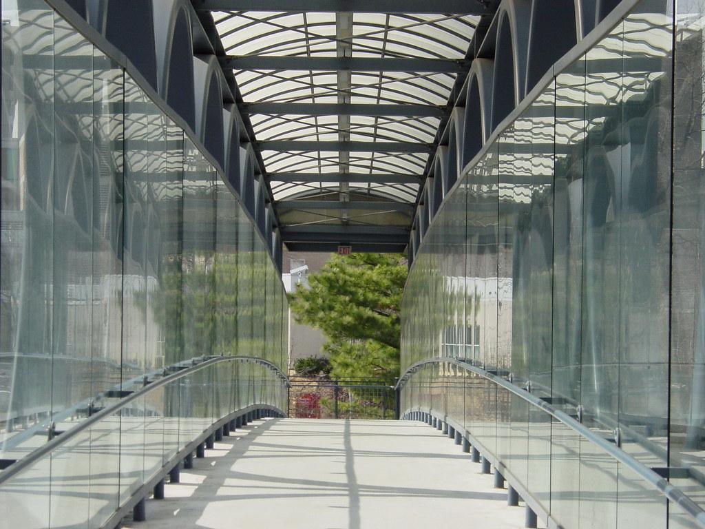 Glass Pedestrian Bridge | Another shot of the pedestrian wal ...