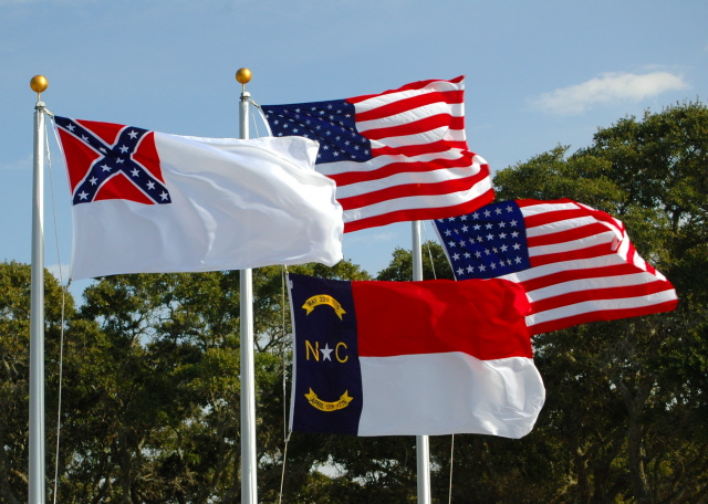 flags  ft  fisher civil war museum  nc