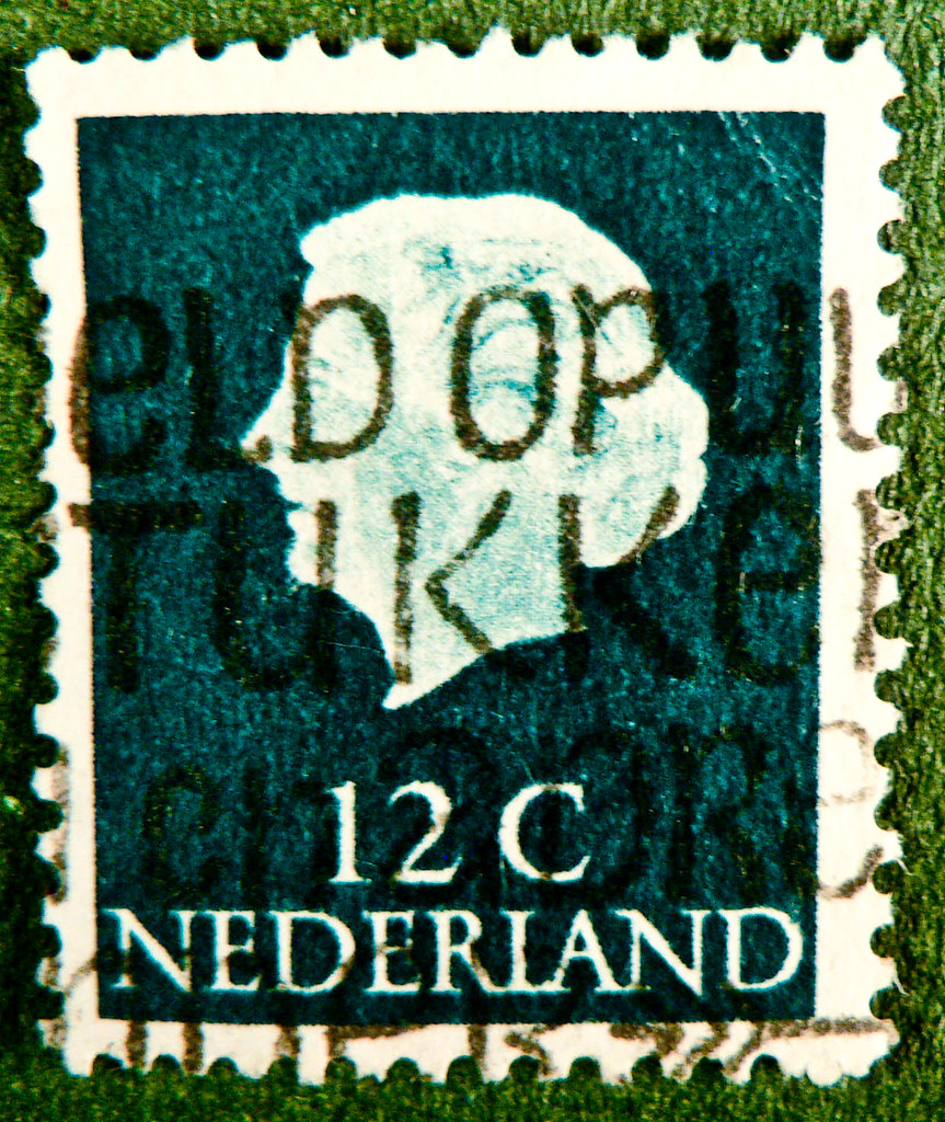 Dutch Stamp Nederland 12c Black Green Queen Juliana Briefm Flickr