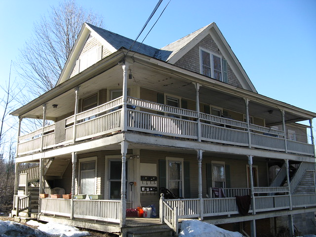 Apartment House With The Two Story Wrap Around Porch