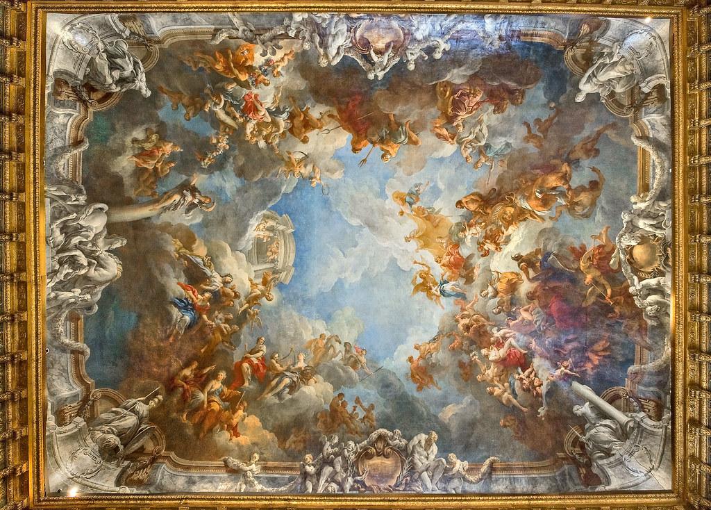 Salon D Hercule Voir En Grand Le Plafond Chef D Uvre