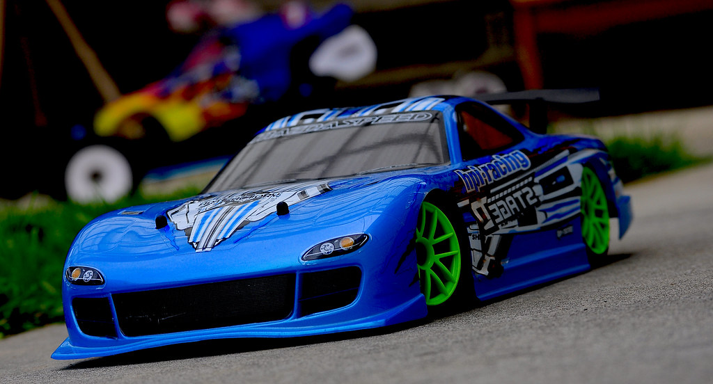 RC Mazda RX7 drift car   Taking with Nikon D90 with nikkor ...