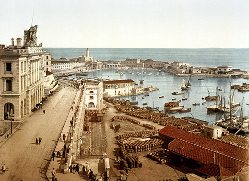 The harbor and admiralty, Algiers, Algeria, ca. 1896 | by trialsanderrors