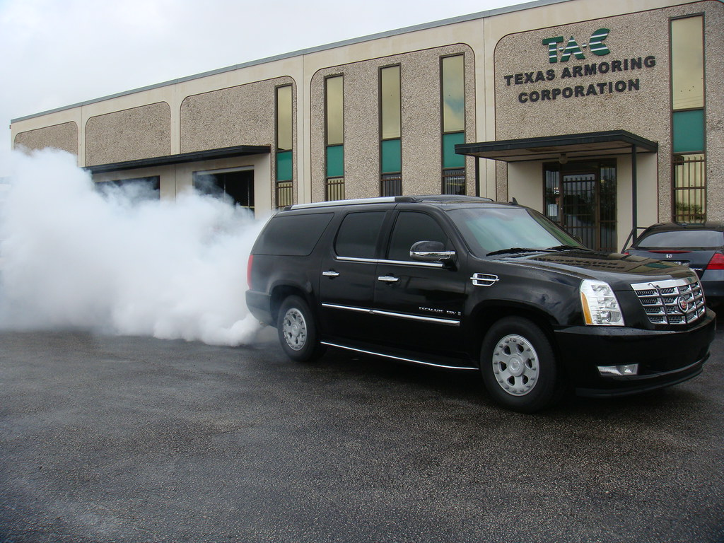 New Cadillac Escalade >> Smoke Screen System from Texas Armoring | Texas Armoring Corporation | Flickr