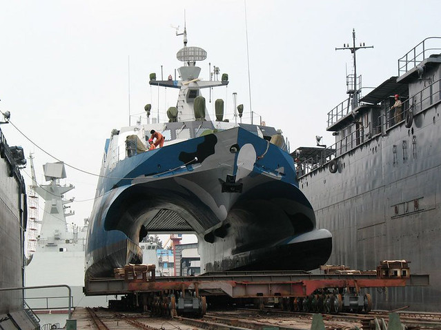 Type 22 Houbei Class Missile Boat In Dock The Houbei