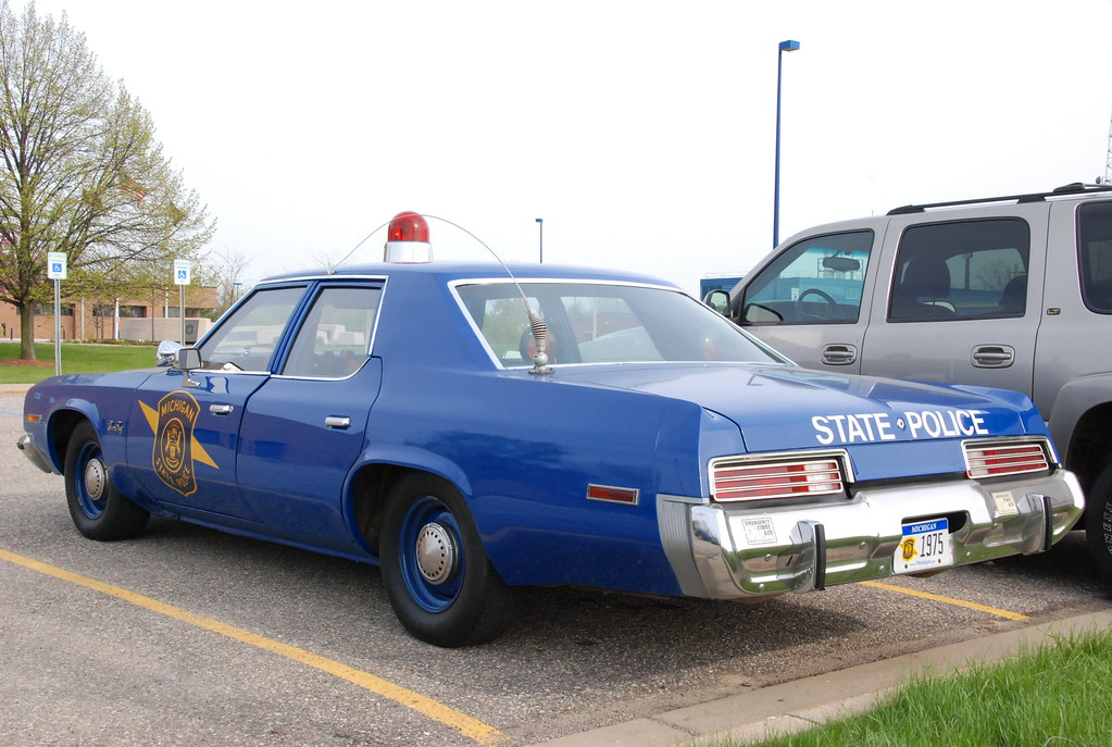 Michigan State Police cars -- 1975 Plymouth Gran Fury | Flickr