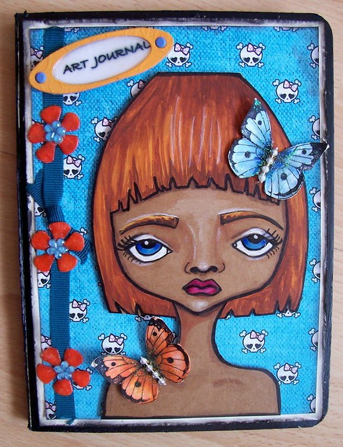 My Art Book Cover ~ Front cover of my altered board book art journal flickr