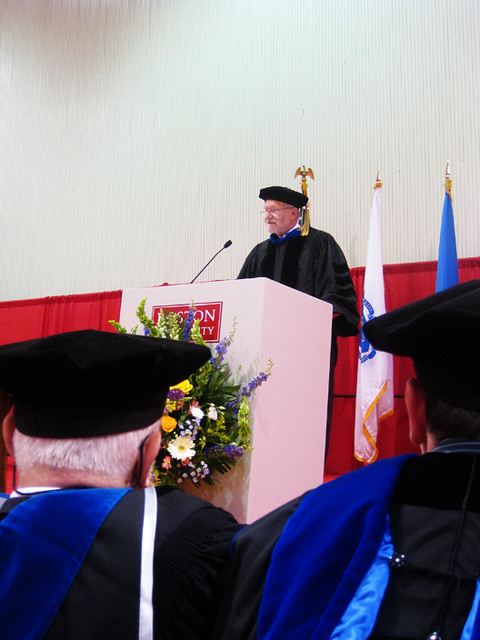 University Graduation Psychology Department Chair Giving