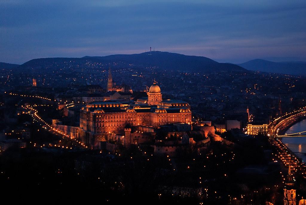 Buda Castle The Buda Castle At Night From Gellert Hill Martin Haesemeyer Flickr