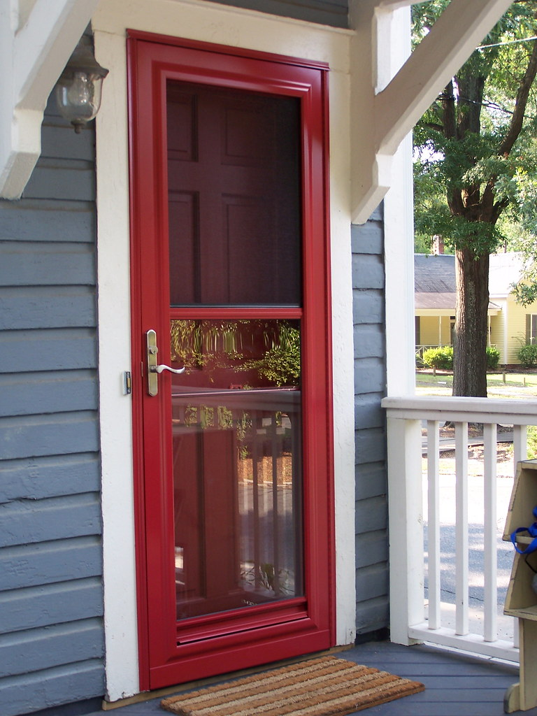 Door Custom Storm Door With Hidden Screen Ntm1909 Flickr