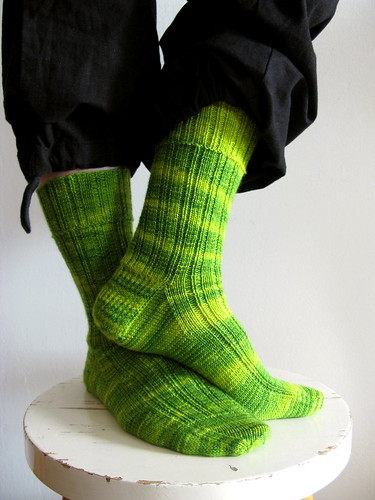Yarrow Ribbed Sock | by terhimon