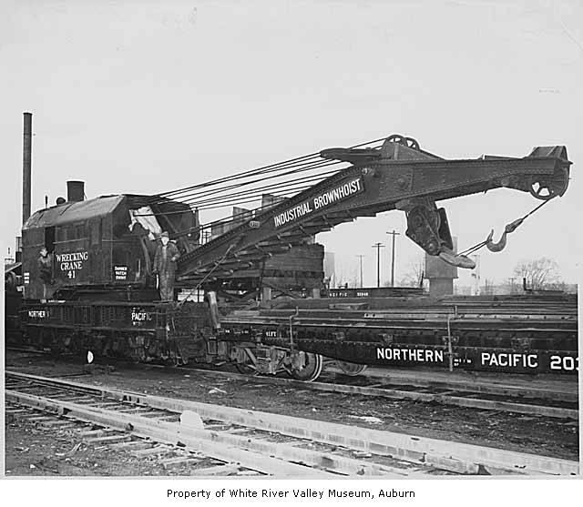 Northern Pacific Railway Wrecker Number 41 In Auburn Ca